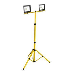 Naświetlacz LED 2x20W na statywie - barwa zimna 6400K, 3450lm.