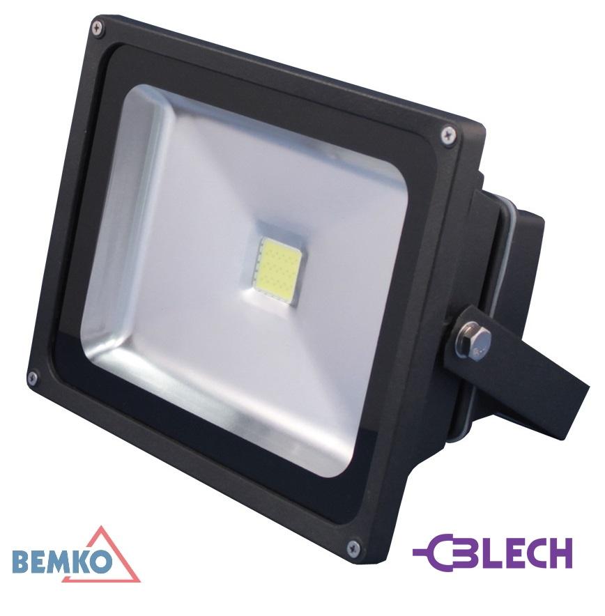 Naświetlacz LED 20W IP65 1350lm 6000K białe zimne BEMKO, lampa led, lampy ledowe, lampa zewnętrzna, lampa robocza led,