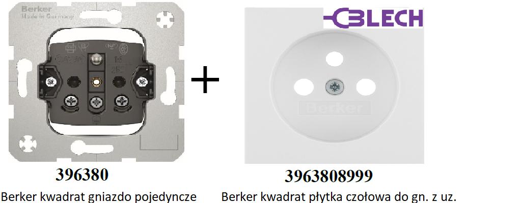 Hager Berker Kwadrat Gniazdka elektryczne pojedyncze. Osprzęt elektryczny firmy Hager. Gniazdko elektryczne.