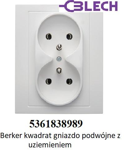 Hager Berker Kwadrat Gniazdka elektryczne podwójne. Osprzęt elektryczny firmy Berker