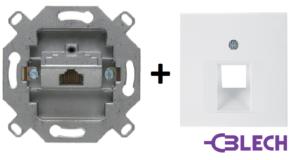Gniazdo komputerowe Hager berker mechanizm kat.5- osprzęt elektryczny-gniazdka elektryczne-gniazdko komputerowe