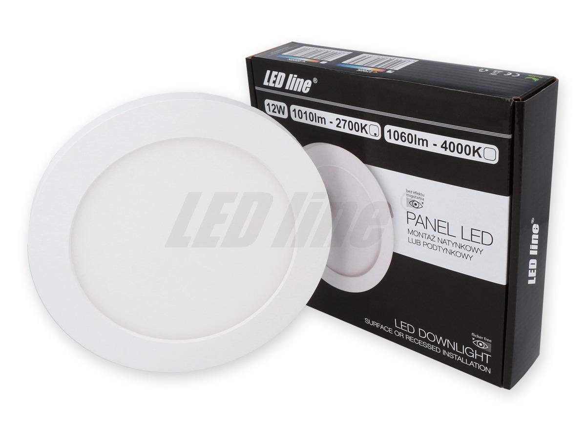 Panel LED line EasyFix 12W 1010lm 4K biała neutralna